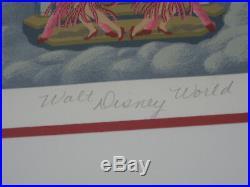 Melanie Taylor Kent Signed Serigraph Walt Disney World 15th Anniversary 99/200
