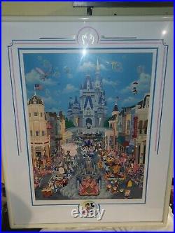 Melanie Taylor Kent Signed Serigraph Walt Disney World 8/500 Framed Disneyland
