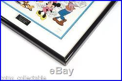Mickey Mouse & Gang Framed Walt Disney Sericel At the Studio with Fabulous Five