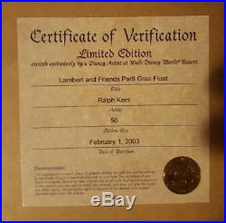 Mickey's Parti Gras, Lambert The Sheepish Lion, Framed Disney Pin Set
