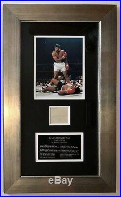 Muhammad Ali Autographed Walt Disney Receipt Jsa Certified Authentic Framed