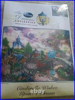 NEW Disney CINDERELLA WISHES UPON A DREAM Thomas Kinkade Counted Cross Stitch