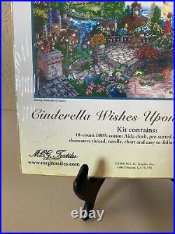 NEW Disney CINDERELLA WISHES UPON A DREAM Thomas Kinkade Cross Stitch Kit 52503