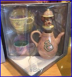 NEW Disney Parks Alice in Wonderland Mad Tea Party Dormouse Ceramic Teapot! Cup