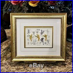 NEW Walt Disney Galley Tinkerbell Sketches Limited Edition Framed Pin Set COA
