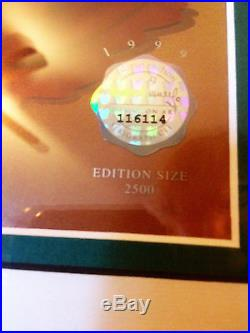 NOT EVEN A MOUSE FRAMED DISNEY SERICEL ANIMATION #/2500 withCOA MICKEY MOUSE RARE