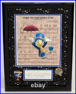 Ned Washington Signed Autographed Frame Disney Composer Oscar winner Walt Disney