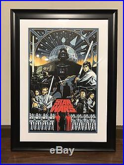 New Disney Eric Tan Star Wars 2015 D23 Expo Serigraph Artwork LE 100 Framed #98