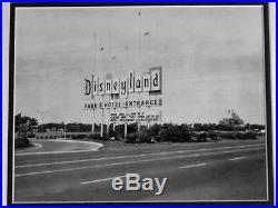 New Walt Disney 1950's Disneyland OLD Marquee vintage sign New frame