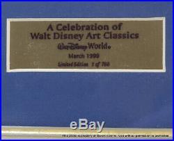 New Walt Disney Framed Pin Set Alice In Wonderland Ltd Ed