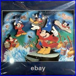 New Walt Disney Mickey Mouse Fantasia Wizards Disciple Framed Pin Badge 51 42