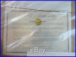New! , Walt Disney's Donald Duck's Memory Book Sericel, Framed, Le /2500