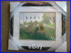 New! , Walt Disney's Lady And The Tramp Sericel, Framed, Le /9500