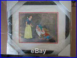 New! , Walt Disney's Snow White And The Seven Dwarfs Sericel, Framed, Le/9500