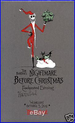 Nightmare Before Christmas Framed Disney Event Tarot Cards 2001