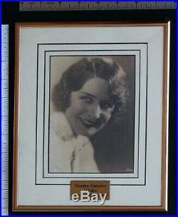 Norma Shearer Signed & Framed Photo, Cert. By Walt Disney World, RARE