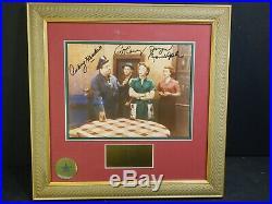 Original CAST Signed Autograph Honeymooners Photo Pro Framed Walt Disney COA