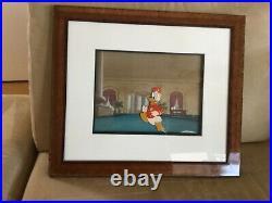 Original DISNEY Donald Duck Cel, Bellboy Donald (1942), Master Background Setup