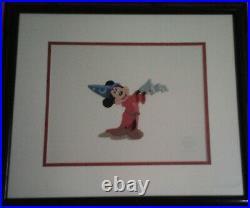 Original Framed Walt Disney Mickey Mouse Fantasia 5000 Serigraph Sericel Cel