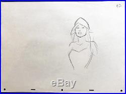 Original Framed Walt Disney Production Drawing of Pocahontas