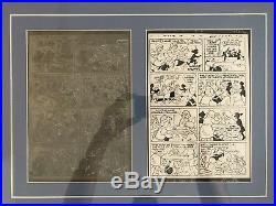 Original Printing Plate Walt Disney Daisy And Donald Duck #2 Framed Display
