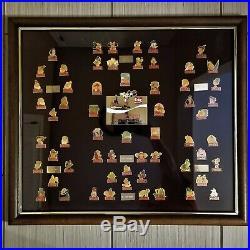 Original RARE NUMBERED Coca Cola WALT DISNEY WORLD 15th Birthday Framed Pin Set