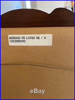 Original WALT DISNEY Little Mermaid He Loves Me Framed Cel (Sericel) withPapers