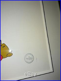 Original WALT DISNEY Winnie the Pooh Tigger Certified Serigraph Cel Cell Framed