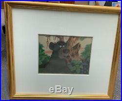 Original Walt Disney Animation Cel Jungle Book Character Baloo Framed