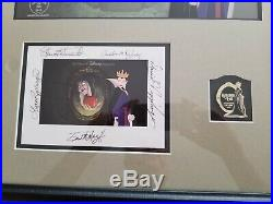 Original Walt Disney Sericel Reflection of Evil Framed Art Pin & Signature Card
