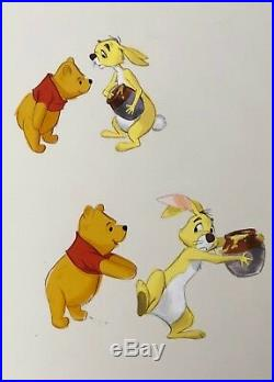 Original Winnie The Pooh Hand Painted Illustration Walt Disney CUSTOM FRAMED