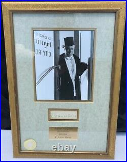Orsen Welles Hand Signed Autograph in Frame Citizen Kane Walt Disney Co