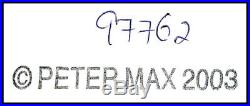 PETER MAX Acrylic Painting ORIGINAL SNOW WHITE Walt Disney Signed POP ART oil