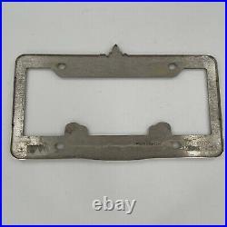 Pair (2) Walt Disney Disneyland Resort Mickey Chrome License Plate Frame Holder