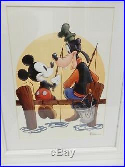 Peter Emmerich Walt Disney Art Mickey Mouse & Goofy Matted Framed