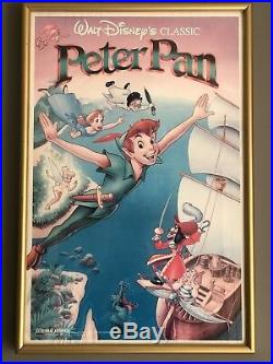 Peter Pan Framed Movie Poster Picture Art Walt Disney 1989 Collectible Rare