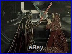 Pin 100385 DS Darth Vader vs Obi-Wan Kenobi Limited Edition 200 Framed pin set