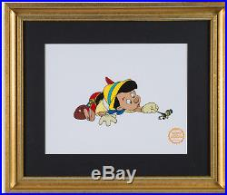 Pinocchio Walt Disney Serigraph. Limited Edition Framed and Matted 18 x 20.5