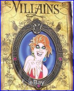 RARE LE DLRP Paris Disney PinVillain Rescuers Madame Medusa Framed Nero Brutus