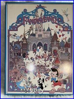 RARE Vintage Walt Disney Productions FANTASYLAND Poster 18 x 24 FRAMED