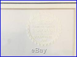 Rare Disney Company Serigraph Cel Snow White Dwarfs LE Framed 11x13