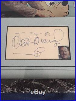Rare Framed WALT DISNEY Autograph