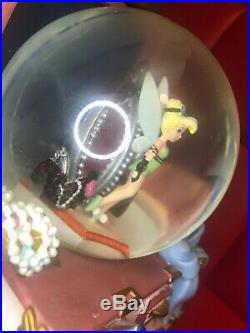 Rare Peter Pan Tinkerbell Tinker Bell Snow Globe Music Box Photo Frame Disney