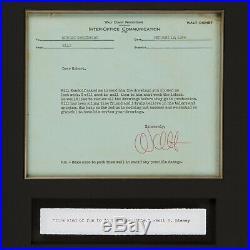 Rare Signed WALT DISNEY 1956 Memo on Disney Letterhead Included $700 Frame