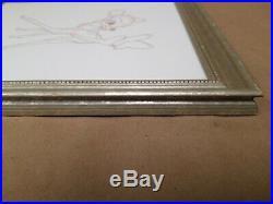 Rare Vintage Walt Disney Bambi Cell Sketch Framed 1942 Collectors Item