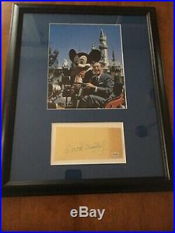 Rare Walt Disney Hand Signed Autograph 14x18 Beautifully Framed Picture