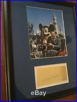 Rare Walt Disney Hand Signed Autograph 14x18 Beautifully Framed Picture WithCOA
