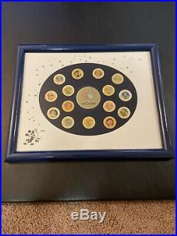 Rare Walt Disney World 20th Anniversary Pins 15 Total Framed