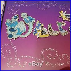 Rare Walt Disney World Letters Framed 15 Pin Set by Adrianne Draud -COA included