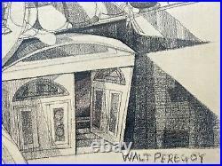 Rare Walt Peregoy Original Pencil Drawing. Disney Animation Artist